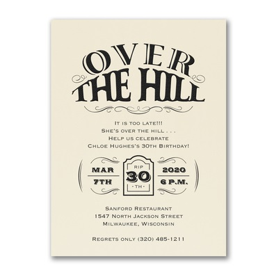 Over the Hill Party Supplies